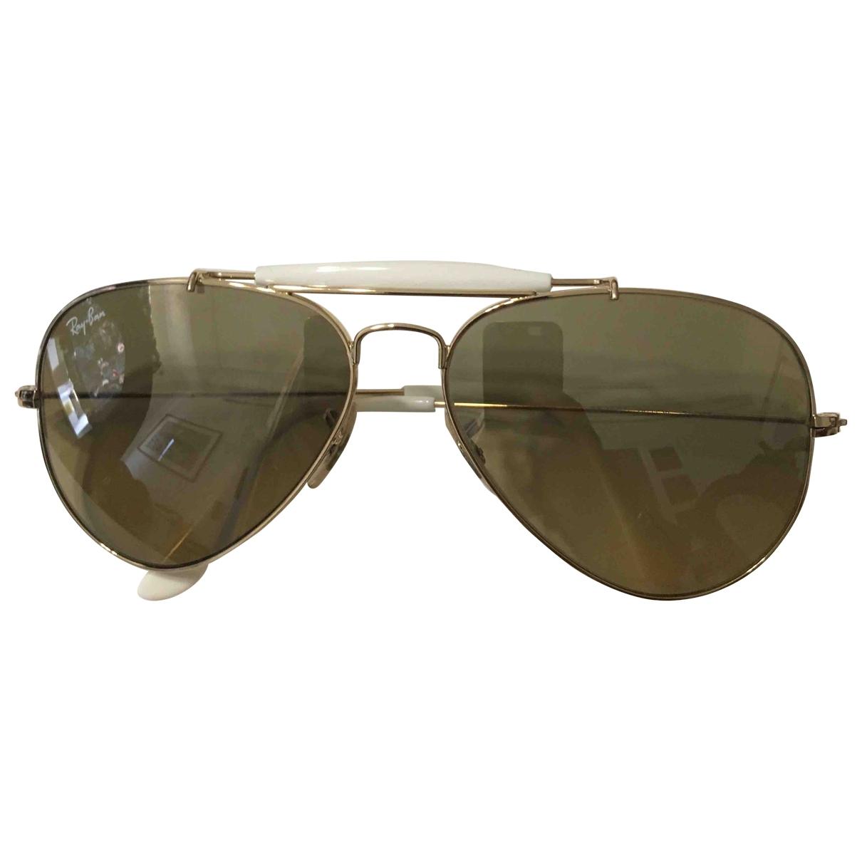 Ray-ban \N Gold Metal Sunglasses for Women \N