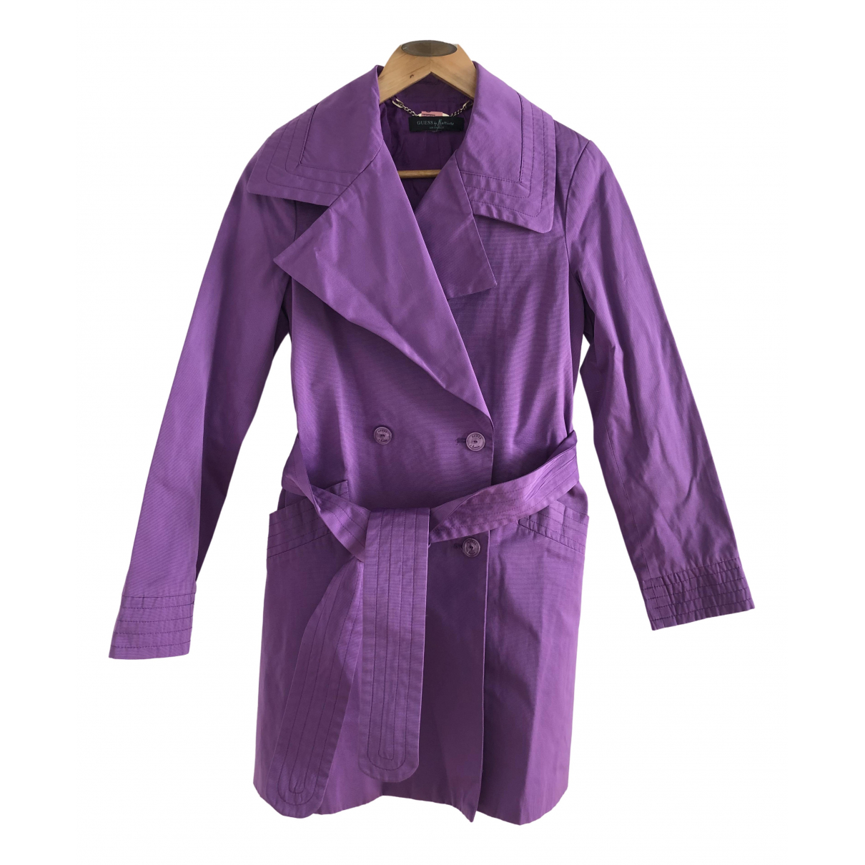 Guess \N Purple Trench coat for Women 42 IT