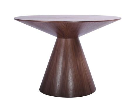 Kira Collection DT1428-WLT 47 Dining Table with Round Shape  Pedestal Base and Veneer Wood Top in Walnut