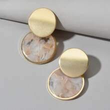 Layered Round Drop Earrings