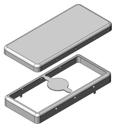 Masach Tech MS Tin Plated Steel PCB Enclosure, 40 x 18.3 x 4mm