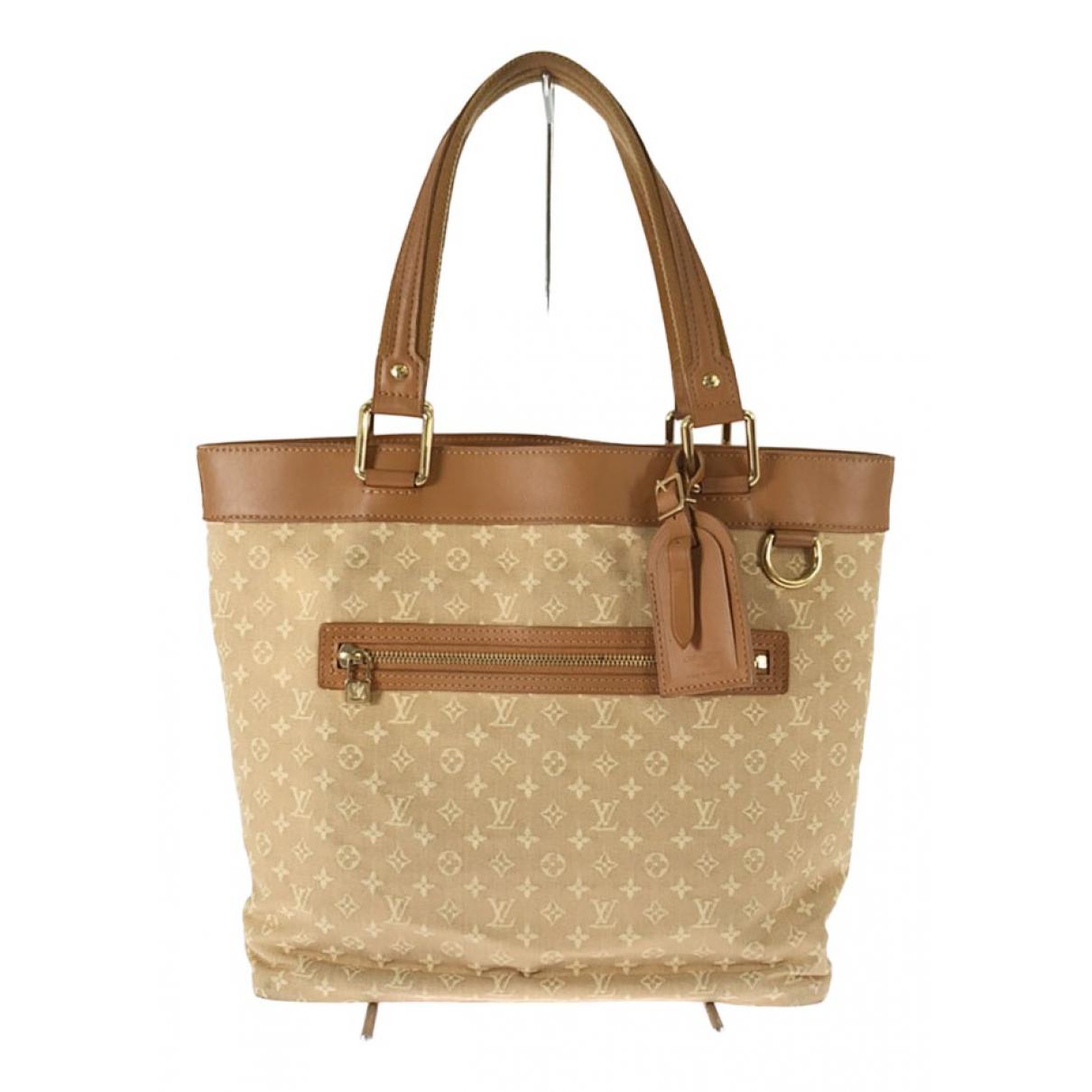 Louis Vuitton Lucile  Handtasche in  Beige Leinen