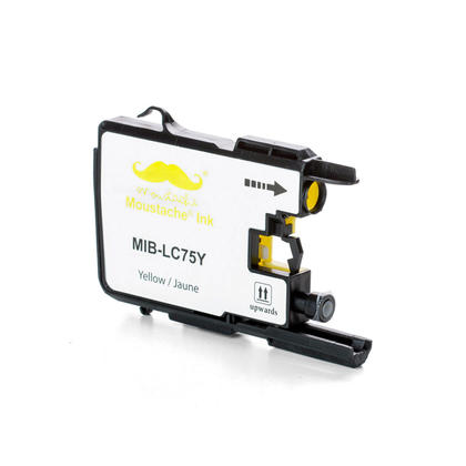 Compatible Brother MFC-J280W Yellow Ink Cartridge by Moustache, High Yield