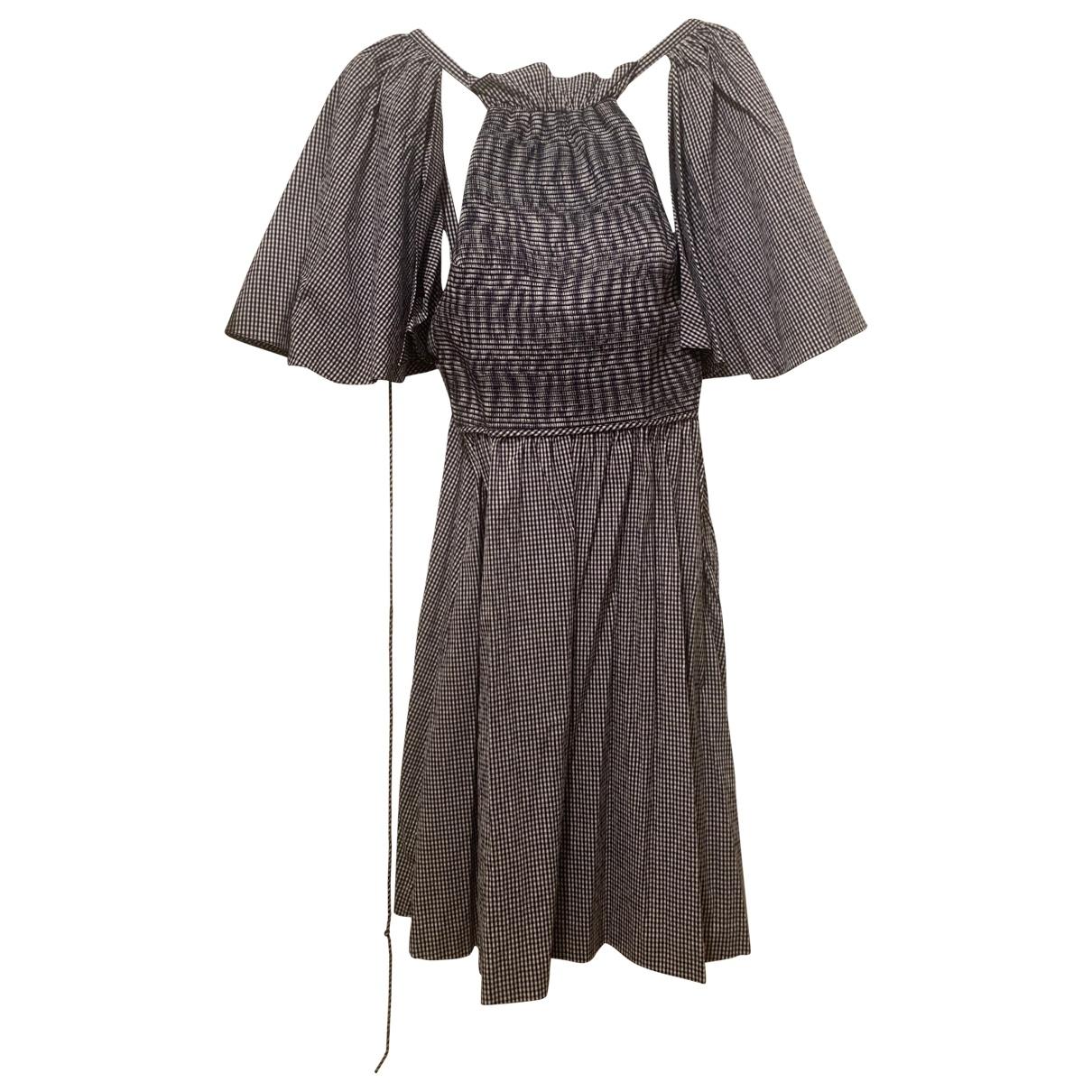Rosie Assoulin \N Kleid in  Marine Baumwolle
