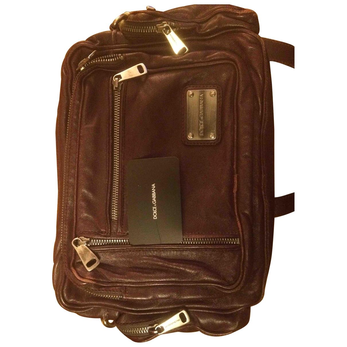 Dolce & Gabbana \N Burgundy Leather Small bag, wallet & cases for Men \N