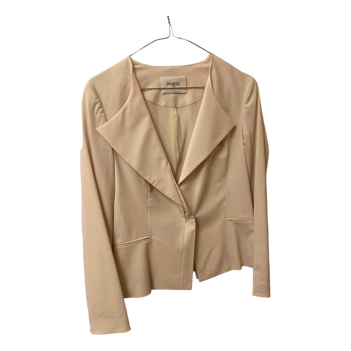 Ports 1961 - Veste   pour femme en laine - beige