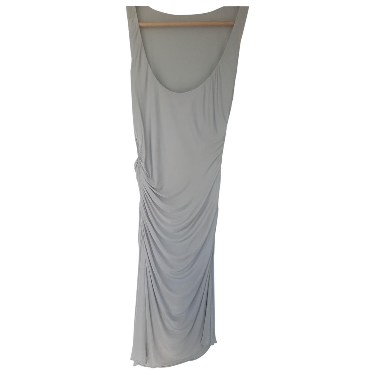 Versace \N Kleid in  Silber Viskose