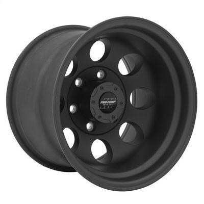 Pro Comp 69 Series Vintage, 15x8 Wheel with 6 on 5.5 Bolt Pattern - Flat Black - 7069-5883