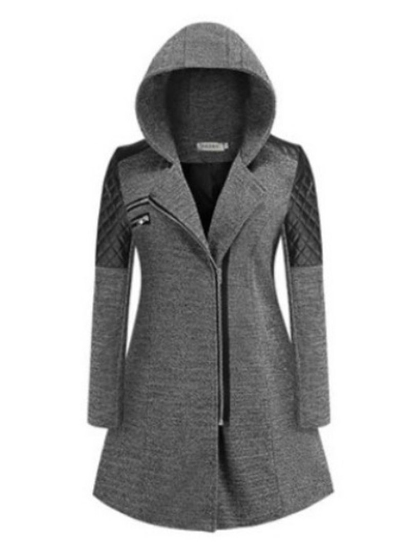 Ericdress Zipper Thick Slim Mid-Length Cotton Padded Jacket