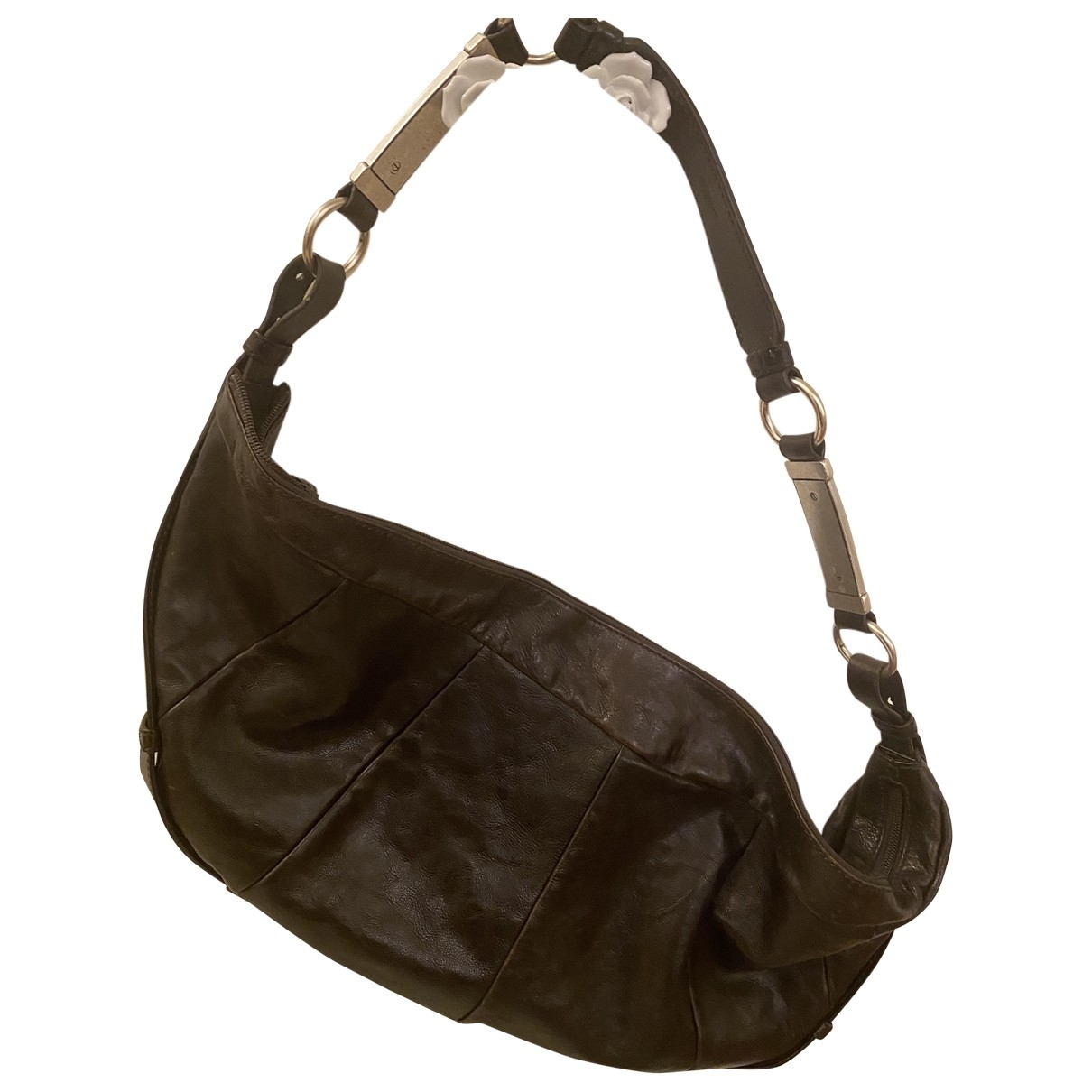 Yves Saint Laurent \N Handtasche in  Braun Leder