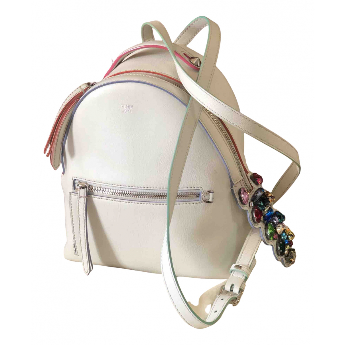 Fendi By The Way  White Leather backpack for Women \N