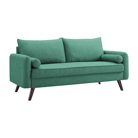 Carly Upholstered Sofa, One Size , Green