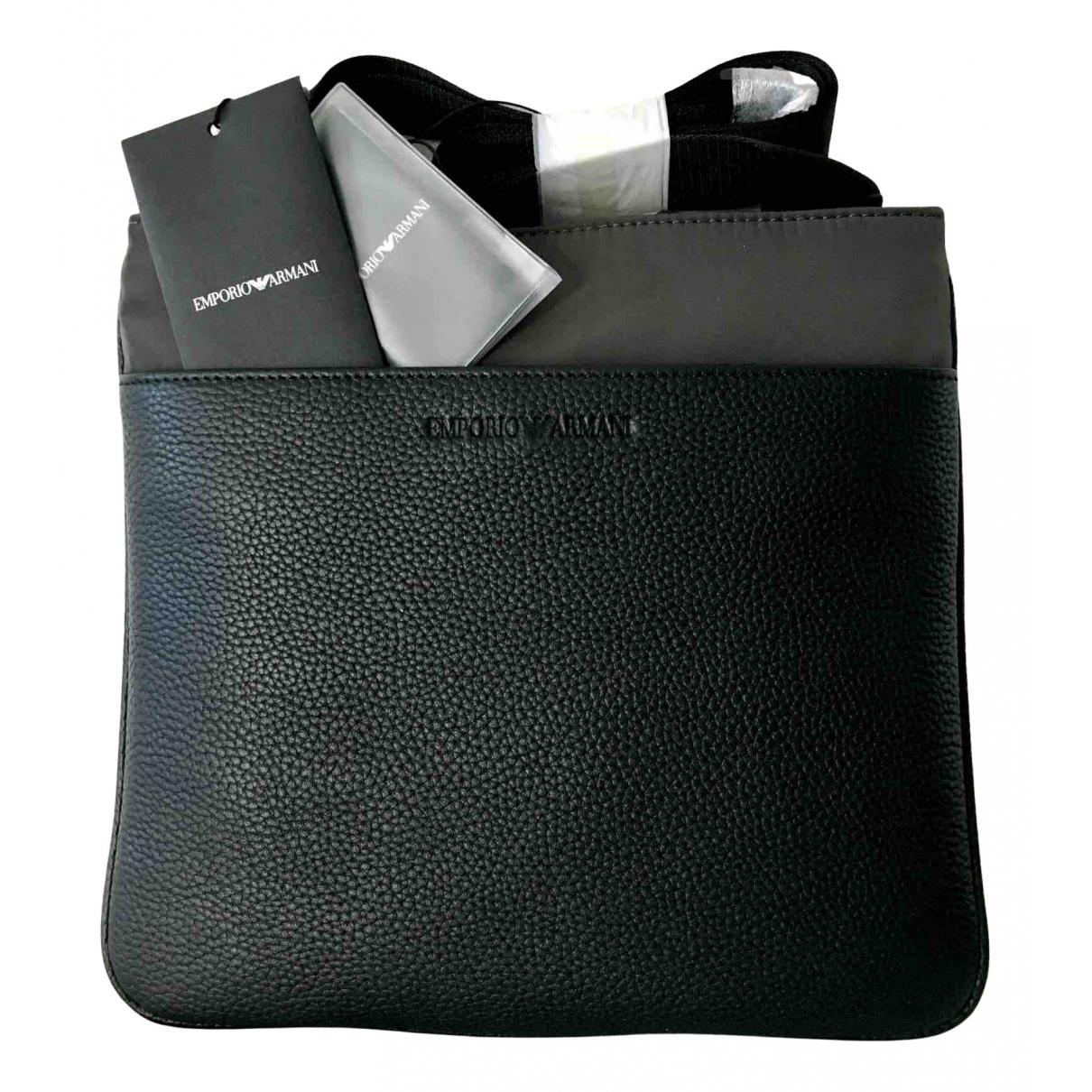 Emporio Armani - Petite maroquinerie   pour homme en cuir - noir
