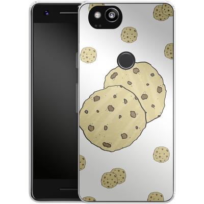 Google Pixel 2 Silikon Handyhuelle - Cookies von caseable Designs