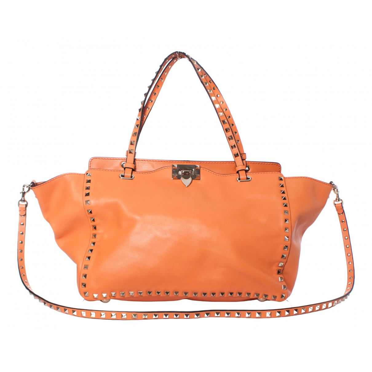 Valentino Garavani Rockstud Orange Leather handbag for Women \N
