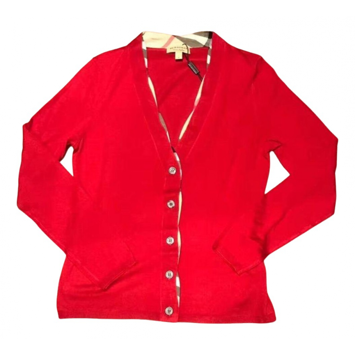 Burberry N Red Wool Knitwear for Women L International