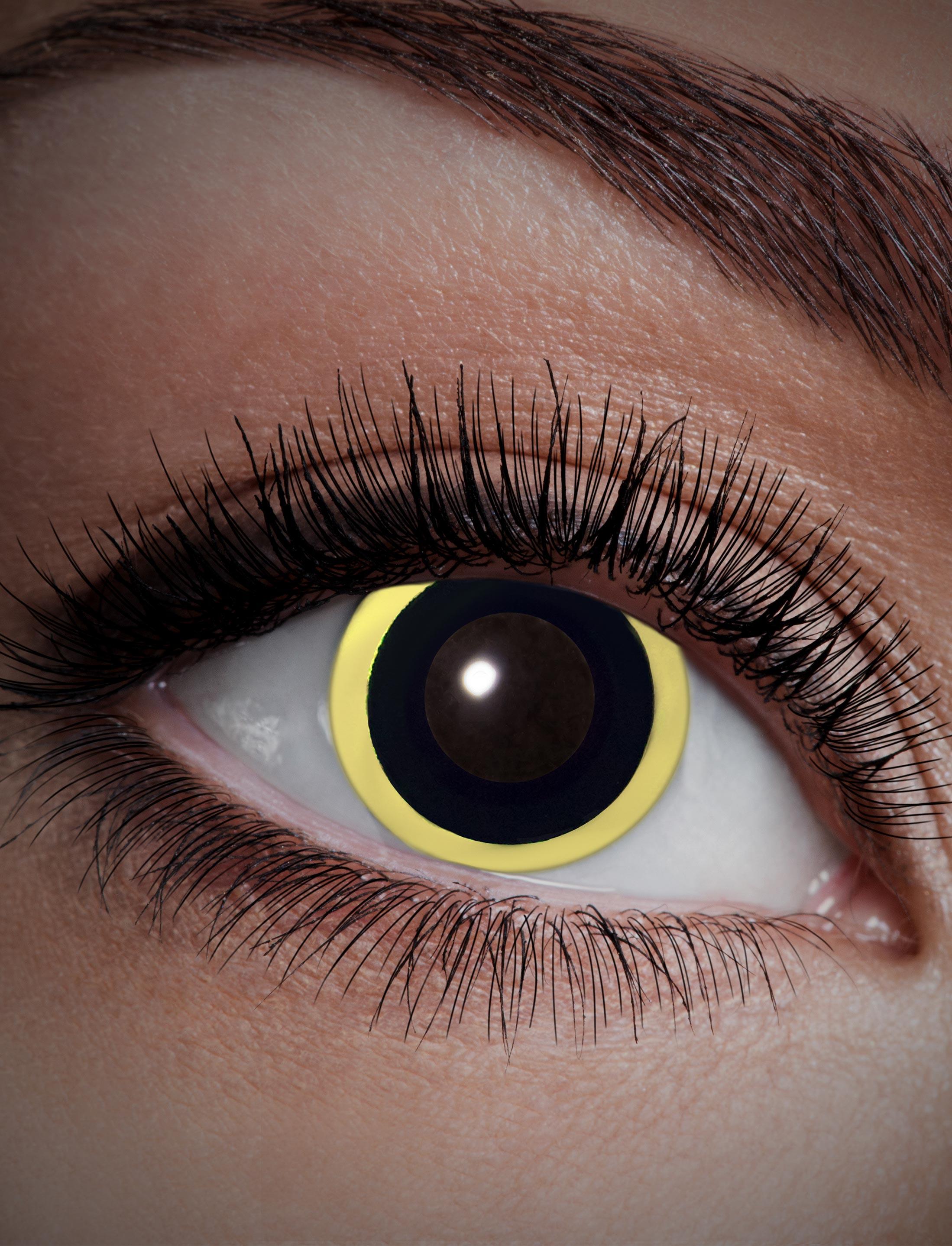 Kostuemzubehor Kontaktlinsen UV Flash Eclipse Farbe: gelb