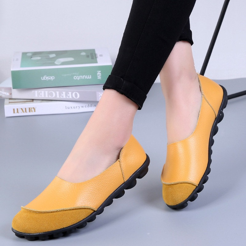 Ericdress Slip-On Round Toe Flat With Low Heel (1-3cm) Thin Shoes