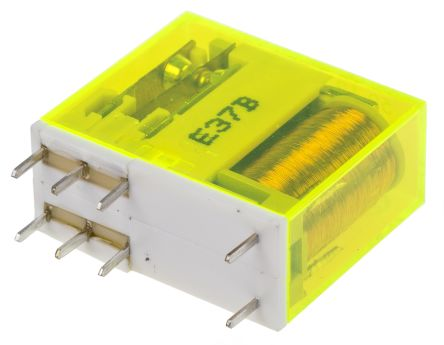 Finder , 24V dc Coil Non-Latching Relay DPDT, 8A Switching Current PCB Mount, 2 Pole