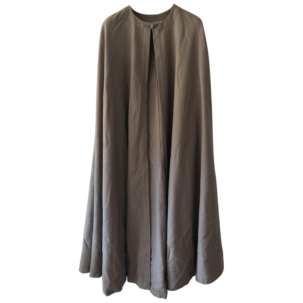 Yves Saint Laurent \N Jacke in  Beige Wolle