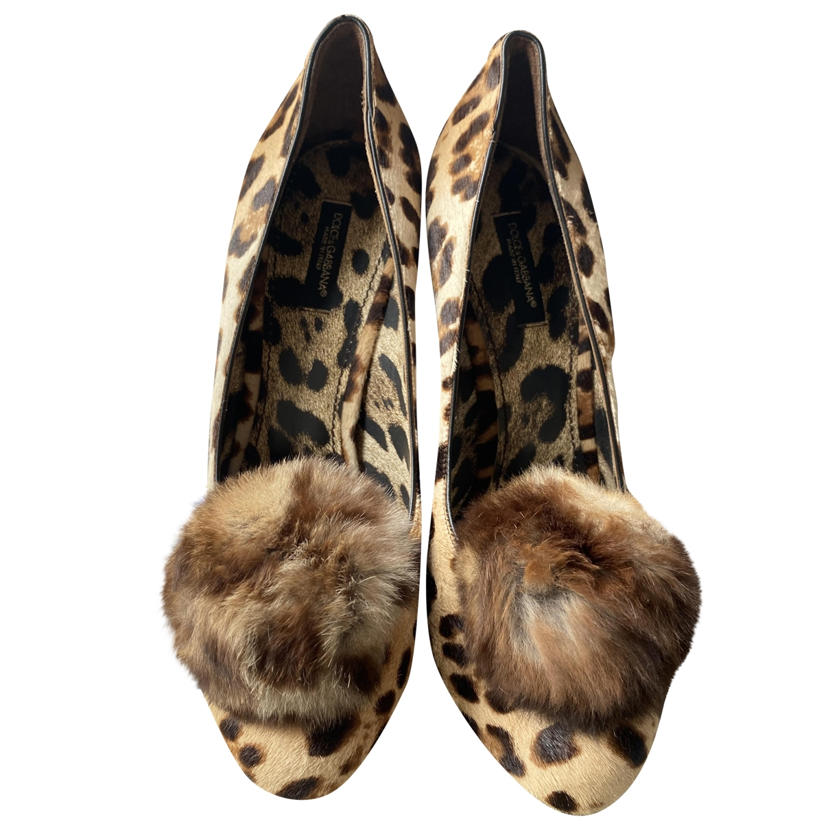 Dolce & Gabbana \N Beige Mink Heels for Women 38.5 EU