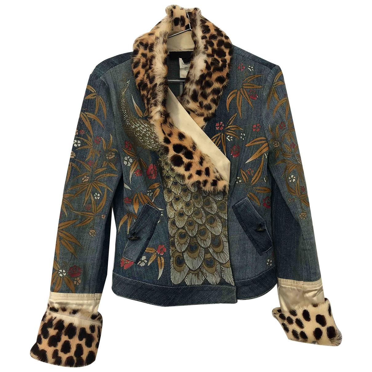 Just Cavalli \N Multicolour Cotton jacket for Women 40 IT
