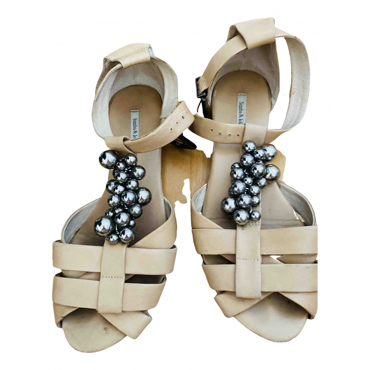 Bimba Y Lola \N Beige Leather Sandals for Women 39 EU