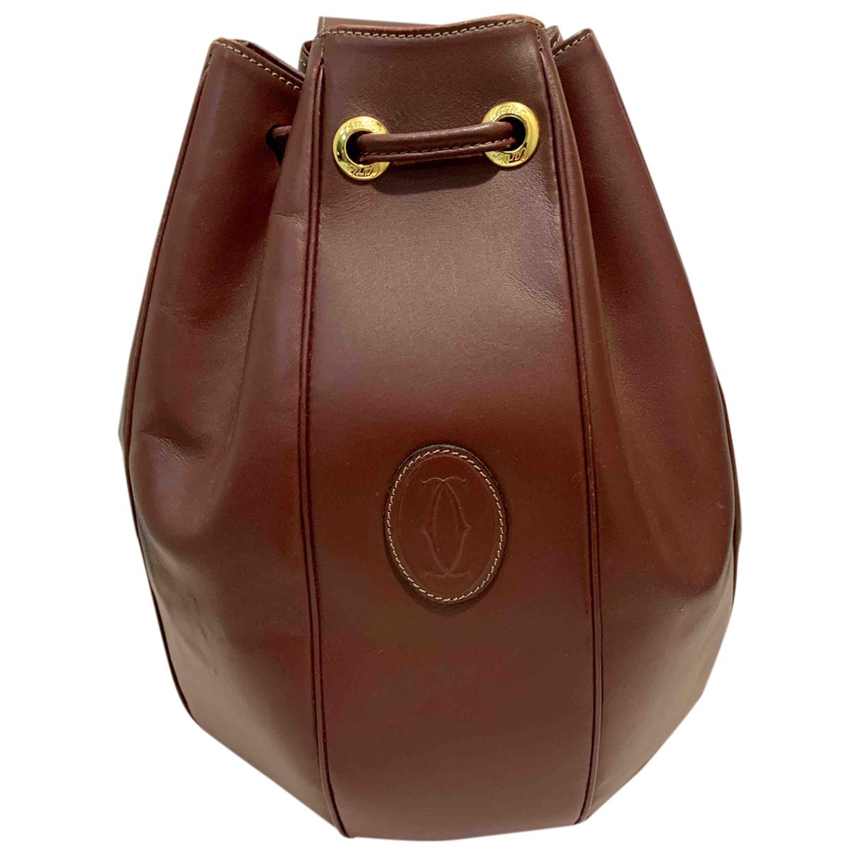 Cartier - Sac a dos   pour femme en cuir - bordeaux