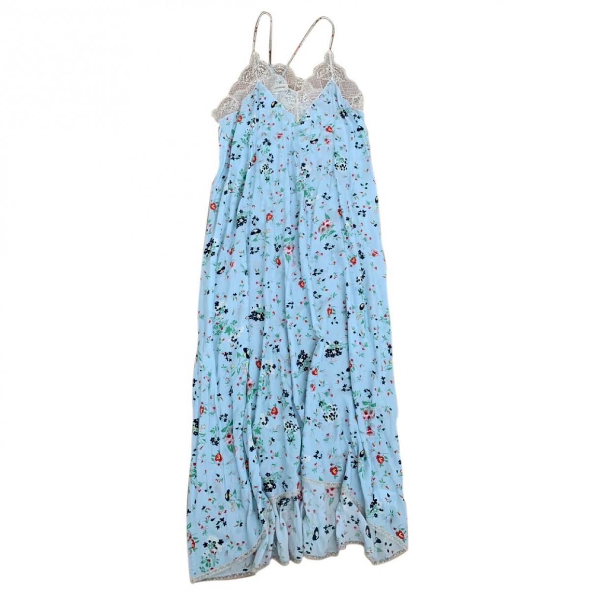 Zadig & Voltaire \N Kleid in  Blau Viskose