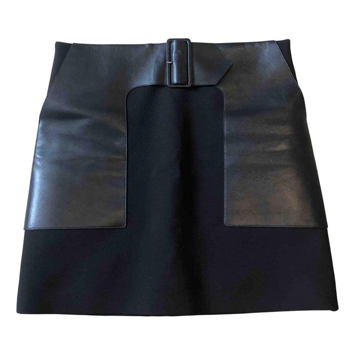 Mini falda de Cuero Celine