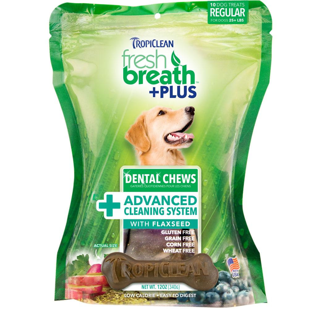 Fresh Breath Plus Dental Treats Advanced Cleaning System - Regular (10 chews)