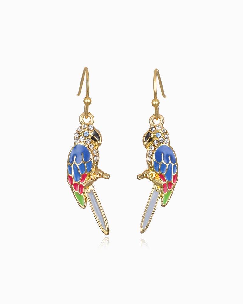 Pretty Parrot Drop Earrings