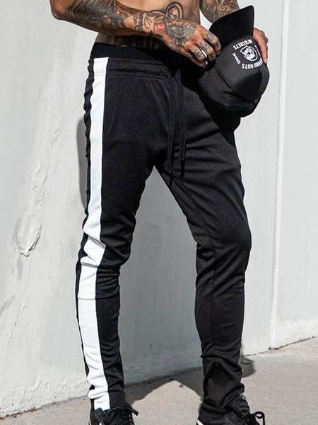 Milanoo Pantalones de chandal para hombre Pantalones deportivos de entrenamiento de gimnasia ligeros