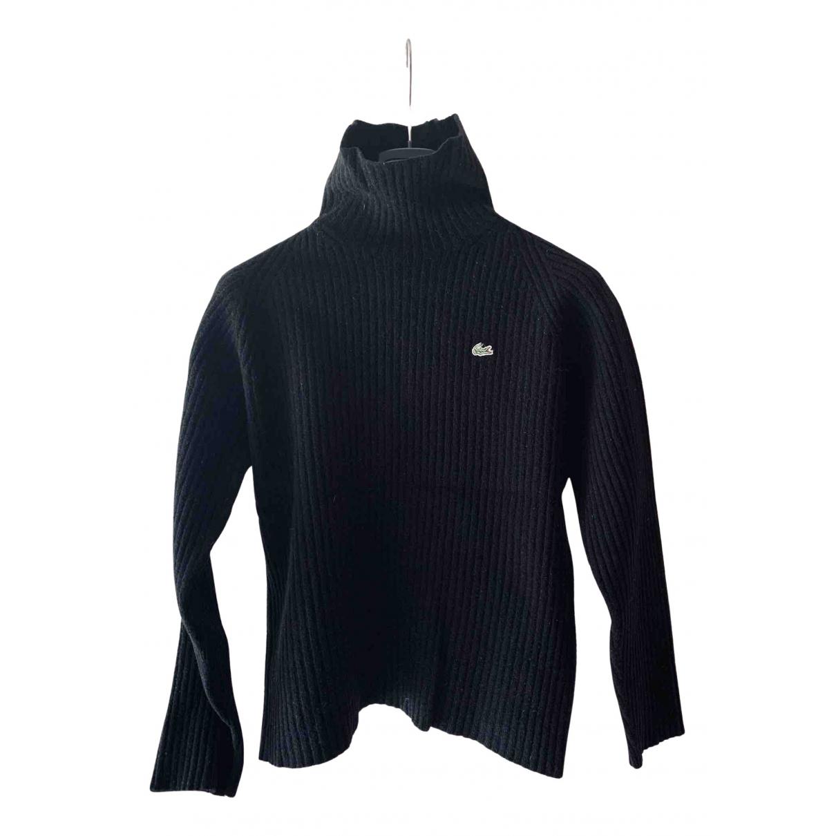 Lacoste N Black Wool Knitwear for Women 40 FR