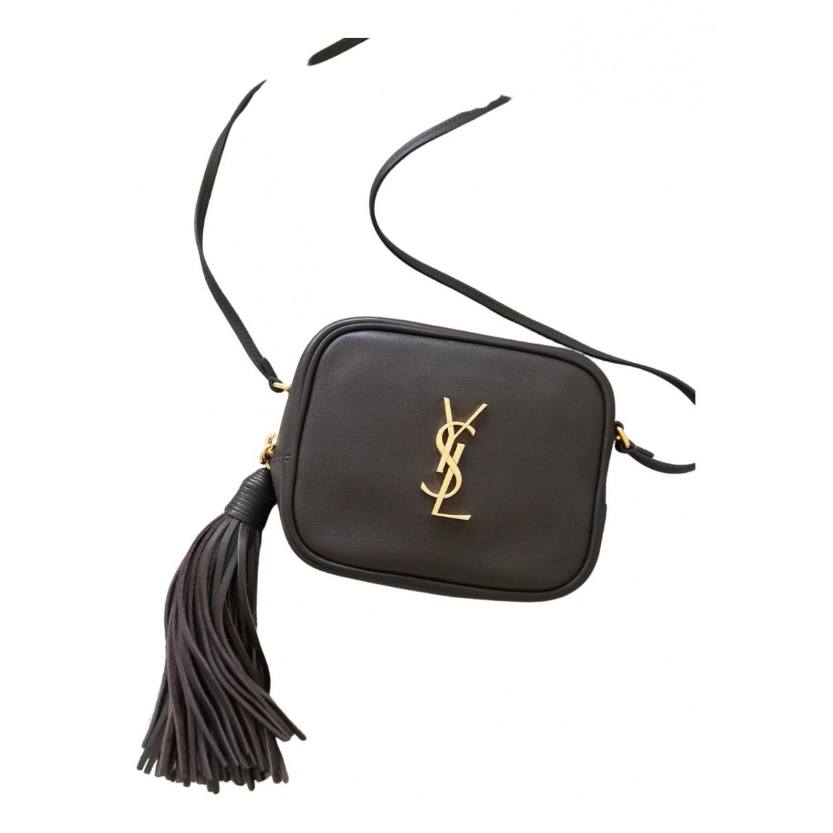 Saint Laurent Blogger Handtasche in  Anthrazit Leder