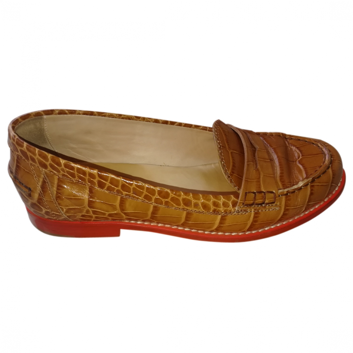 Tod's \N Brown Leather Flats for Women 37 EU