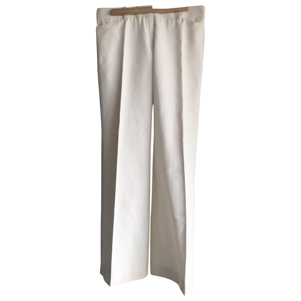 Celine \N Cotton Trousers for Women 38 FR