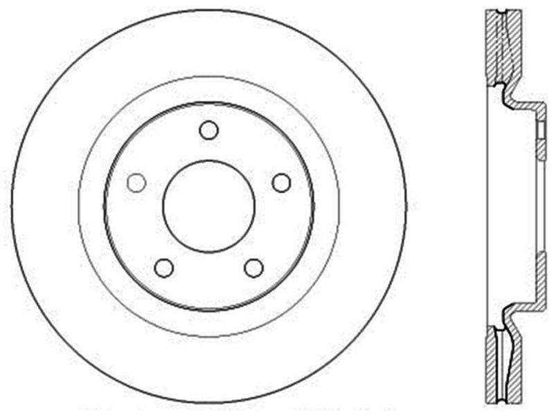 StopTech 126.42108SR Sport Slotted Brake Rotor; Front Right Nissan Juke Front Right 2011-2016