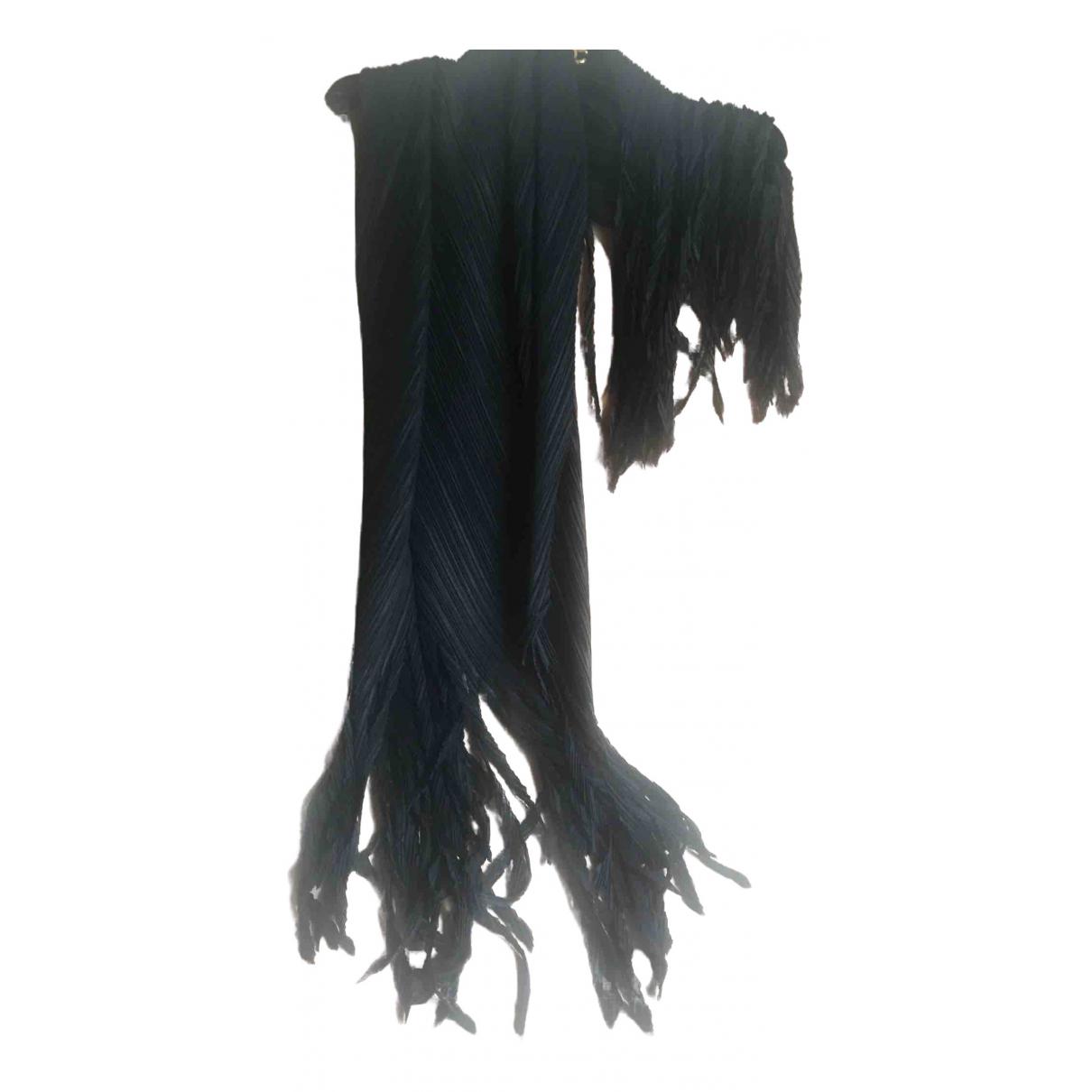 Issey Miyake \N Schal in  Schwarz Polyester