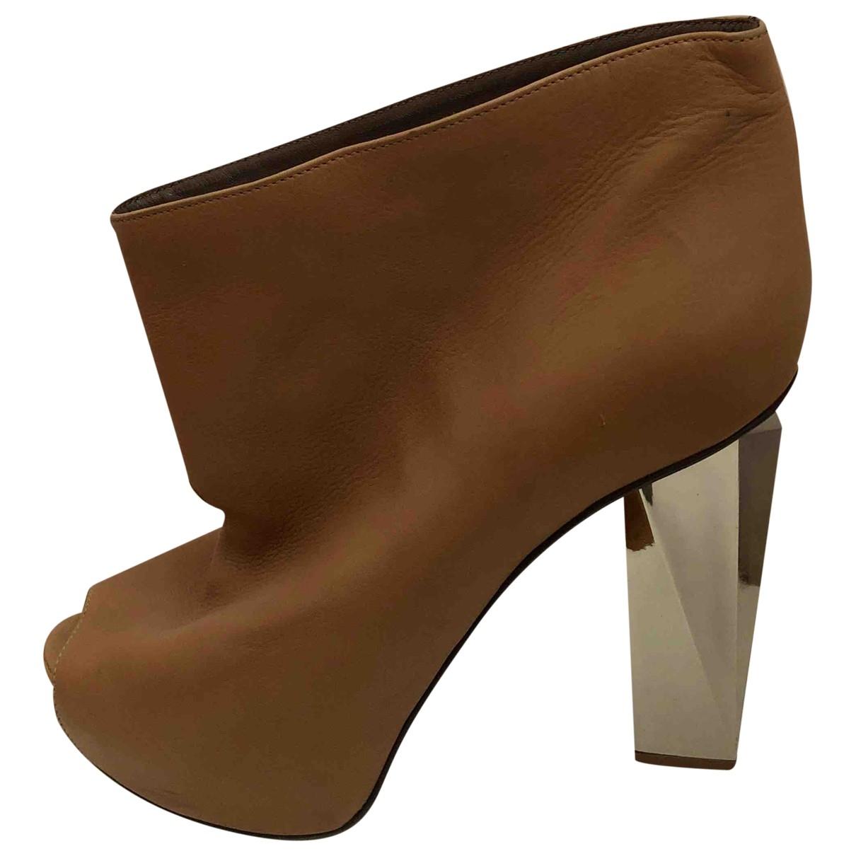 Albino - Boots   pour femme en cuir - camel