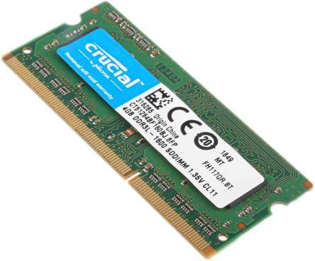 Crucial 4 GB DDR3 RAM 1600MHz SODIMM 1.35V