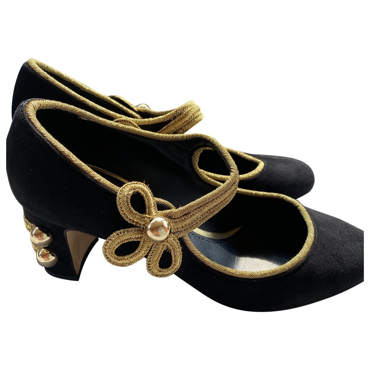 Dolce & Gabbana \N Black Suede Heels for Women 38 EU