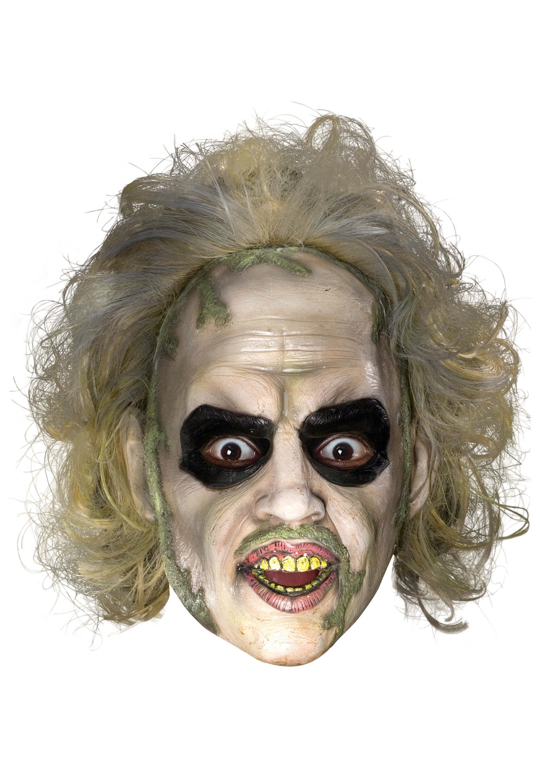 Beetlejuice 3/4 Mask w/ Hair for Adults