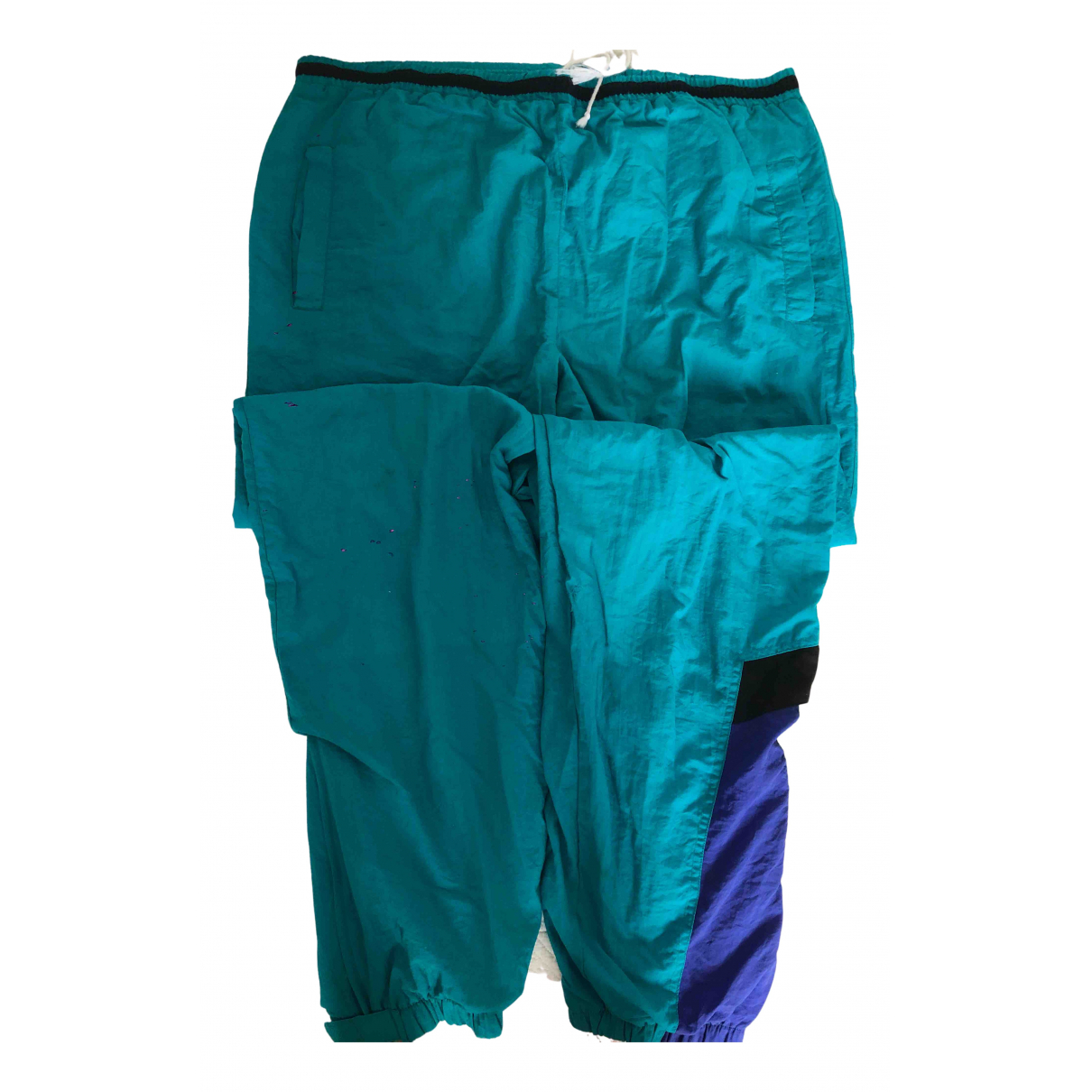Pantalon en Poliester Turquesa Non Signe / Unsigned