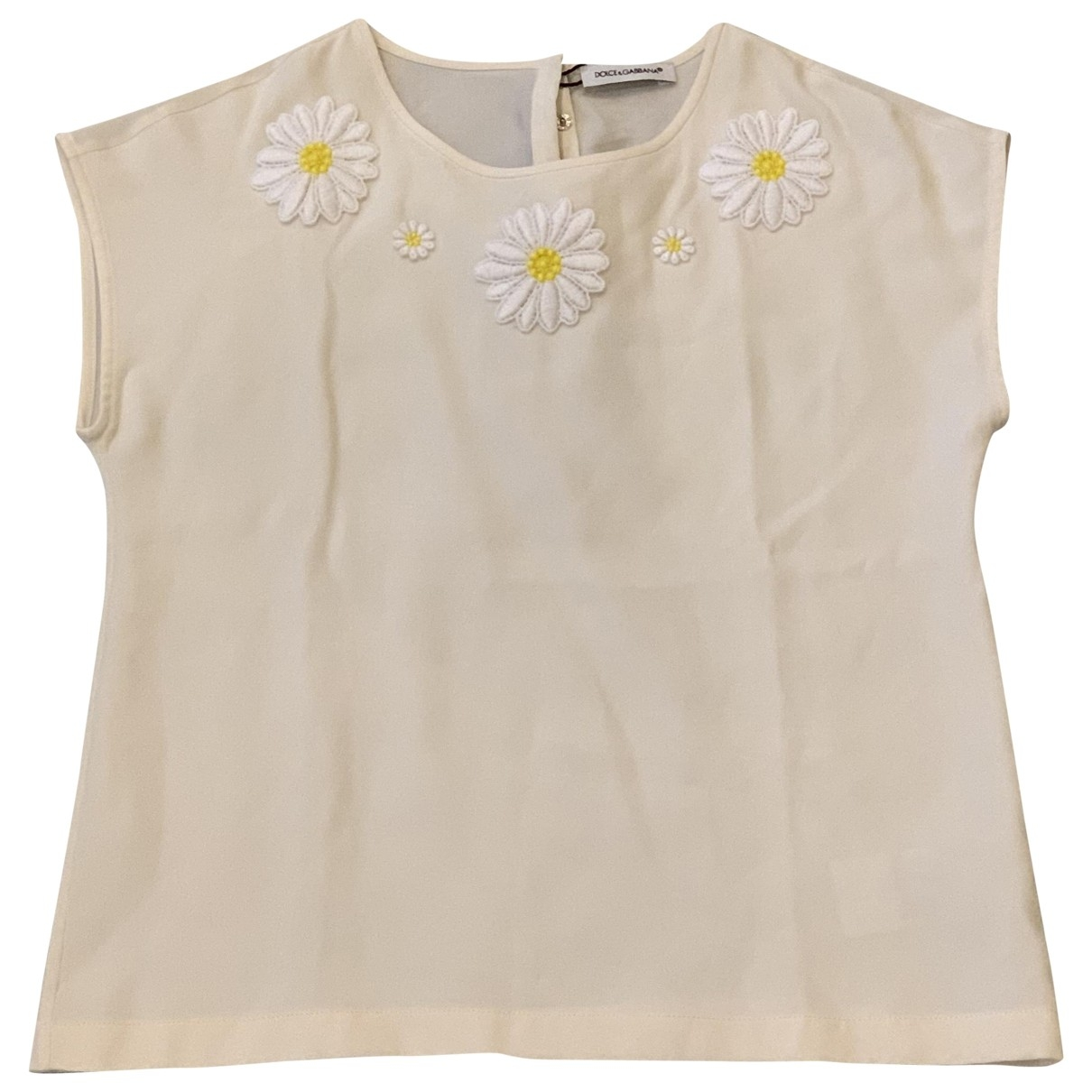 Dolce & Gabbana \N Beige Silk  top for Kids 6 years - up to 114cm FR