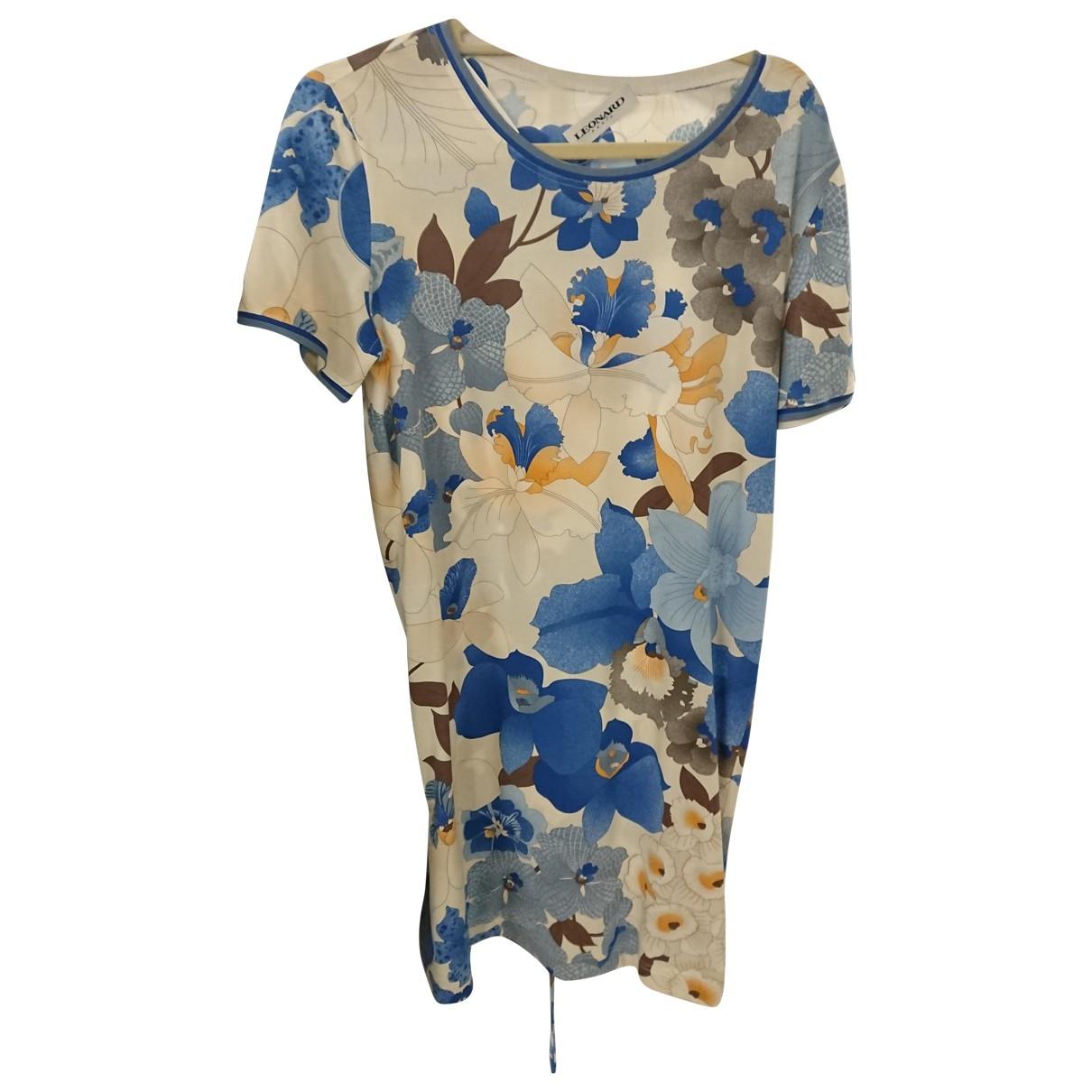 Leonard \N Blue Cotton dress for Women 42 FR