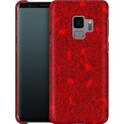 Samsung Galaxy S9 Smartphone Huelle - Red Black von Mattartiste