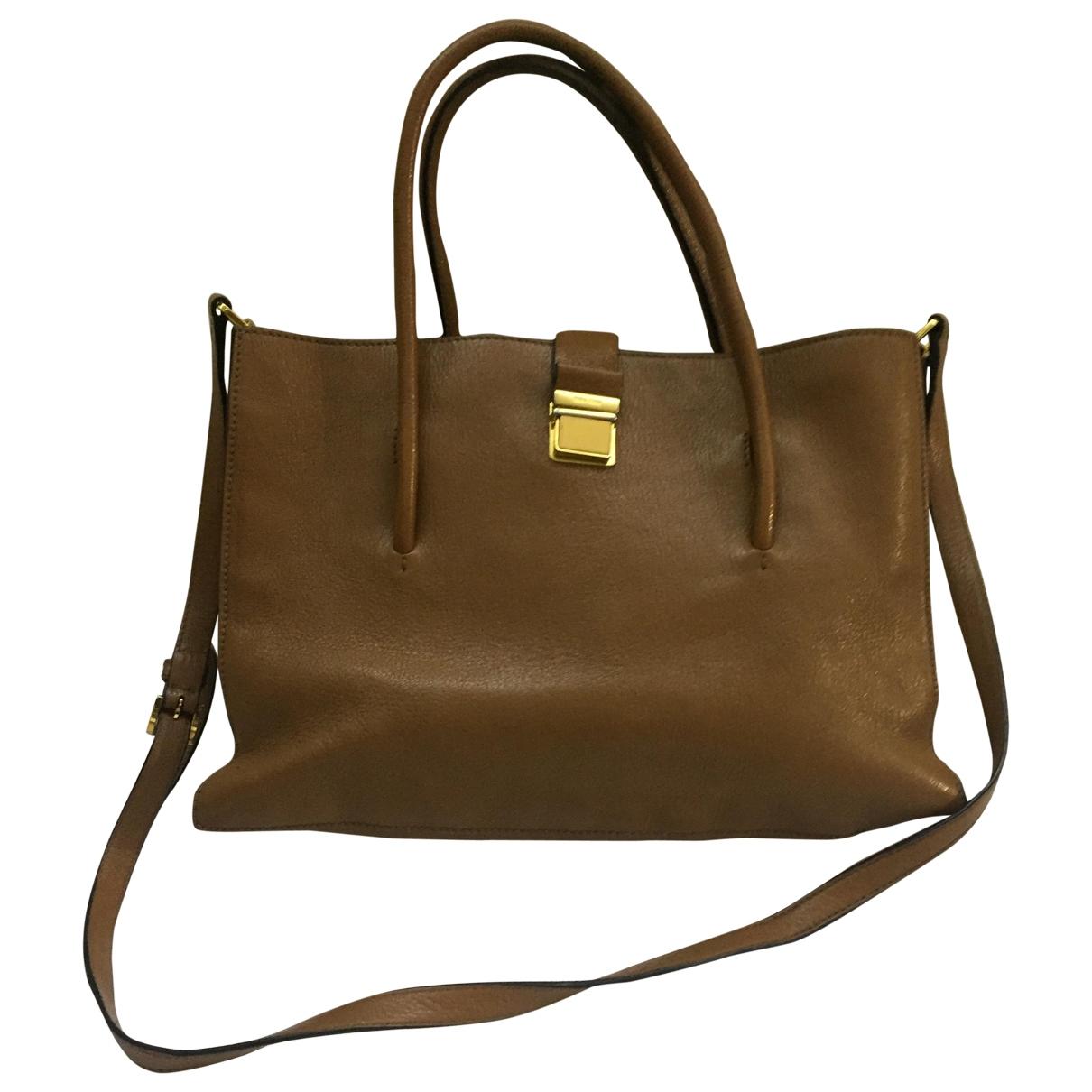 Miu Miu Madras Handtasche in  Braun Leder