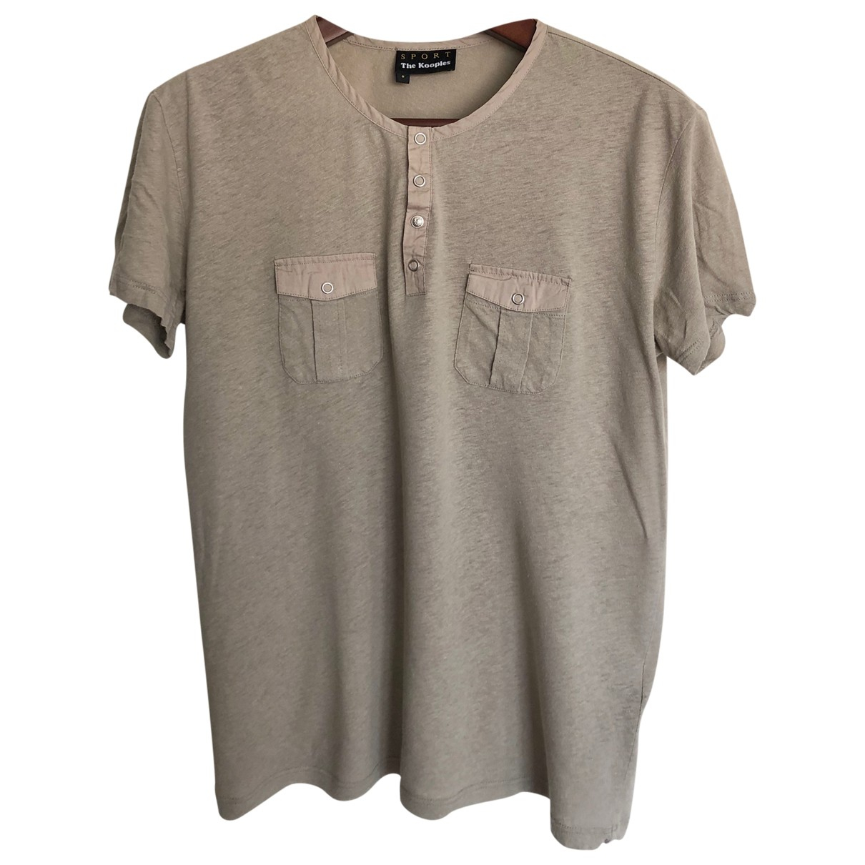 The Kooples - Tee shirts   pour homme en lin - beige