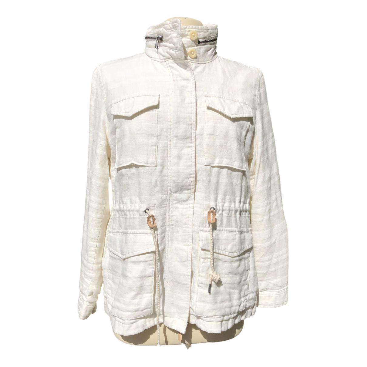 Levis - Veste   pour femme en lin - blanc